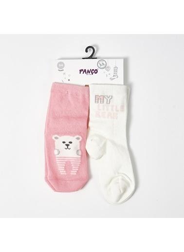 Panço Kız Bebek 2 li Çorap 1813625108 Renksiz